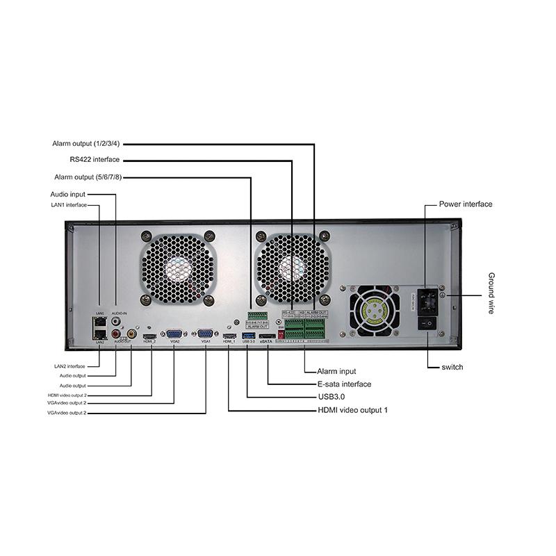 128ch 4k H265 Nvr 16sata Xonz Cameras