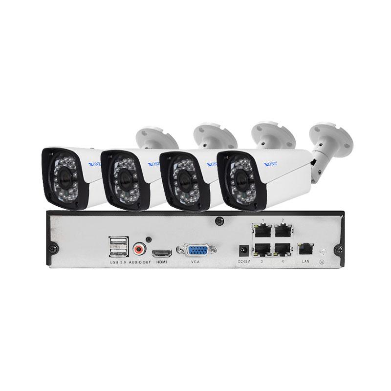 4ch 2mp Poe Kit Xonz Cameras